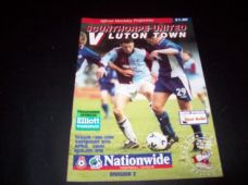 Scunthorpe United v Luton Town, 1999/2000